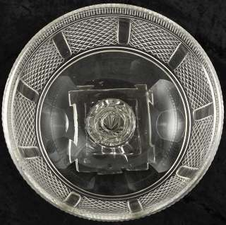 Large Antique Anglo Irish Hand Blown Cut Glass/Crystal Pedestal Bowl