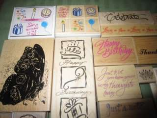 HUGE LOT ASSORTED RUBBER STAMPS, HERO ARTS, STAMPIN UP ++ FLOWERS