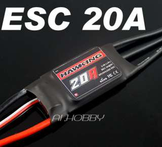Hobbies HAWKING ESC 20A Brushless Motor Speed Controller HK 20