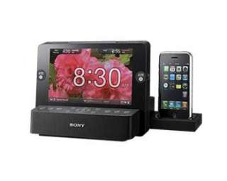SONY Picture Frame Alarm Clock Radio ipod iPhone Speaker Dock HQ 7