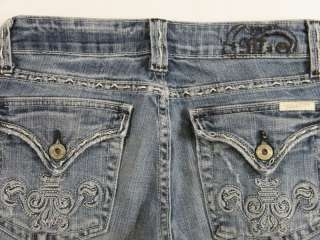sexy destroyed blue cut off denim bermuda shorts size 26 28