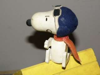 Snoopy Flying Ace Red Baron Dog House Music Box Needs Repair