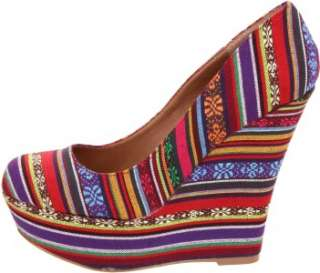 Shoes Steve Madden Pammyy Pammy Platform Wedge Pump Heels Bright Multi