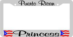 PUERTO RICAN PRINCESS PUERTO RICO License Plate Frame