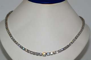 70,000 14.39CT ROUND CUT DIAMOND TENNIS NECKLACE 18K WHITE GOLD 4