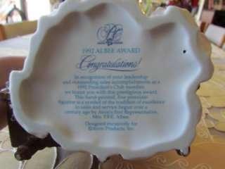 LOT OF MRS ALBEE FIGURINES ~ AVON PRESIDENTS CLUB AWARDS