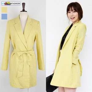 Fashion]Linen Long Jackets Summer Boyfriend Blazer Women Clothes XS S