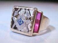 Vintage Masonic Ring 10K Gold Size 11 LIN 191