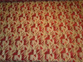 Hotwire Salsa Red Gold Modern Retro Upholstery Fabric bty