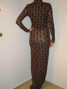 Diane von Furstenberg long maxi printed jersey dress NEW 4 6