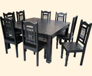 Solid Wood Square Dining Dinette Table & Chairs Set Furniture