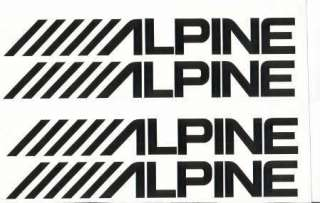 ALPINE AUDIO LOGO DECAL CAR STICKER GRAPHIC 19x2.5cm