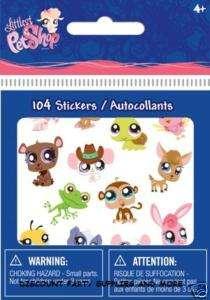 Littlest Pet Shop Bitty Bits Stickers Autocollants