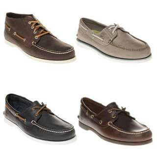 Mens Timberland Leather Boat Shoes   4 Designs