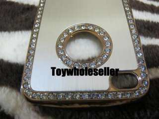 Luxury Diamond Crystal Hard Case Cover iPhone 4 Silver