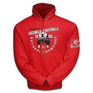 Georgia Bulldogs NCAA 1980 10 oz. Hooded Sweatshirt (Large