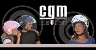 CASCO DEMI JET CGM 107R FLAG NERO GOMMATO TAGLIA XL