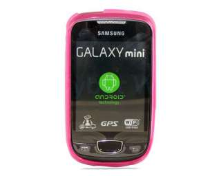 PINK Gel Case Cover Skin For Samsung Galaxy Mini S5570