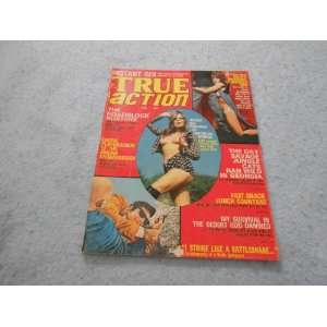 True Action Febuary 1975 Vintage Mens Magazine: assorted