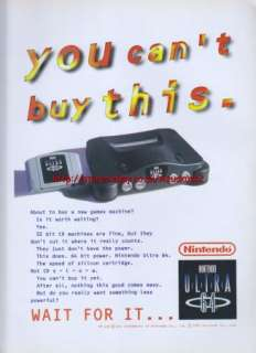 Nintendo 64 Ultra 1993 Magazine Advert #2380