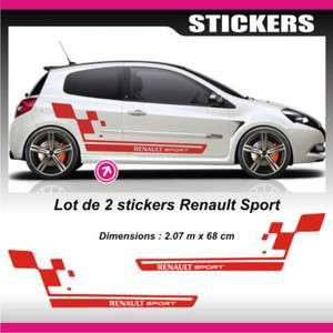 Sticker Renault Sport Rouge Twingo R2 Clio R3 Megane R4   RECRouge