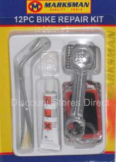 12pc Bicycle Bike Puncture Repair Kit Glue Patch Levers