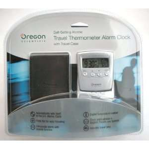 Oregon Scientific Self Setting Atomic Travel Thermometer Alarm Clock