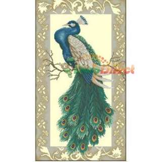 Wholesale Elegant Home Decor Peacock Counted Cross Stitch Kit