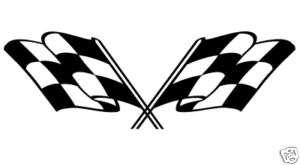 COPPIA ADESIVI BANDIERE RACING PER AUTO MOTO TUNING
