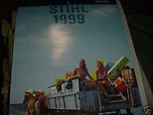 STIHL CHAINSAW 1999 CALENDAR NEW
