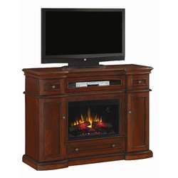 Julian 48 TV Stand with Electric Fireplace in Rich Espresso  Wayfair