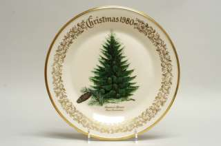 Lenox CHRISTMAS TREE Brewers Spruce Plate 1980 74047