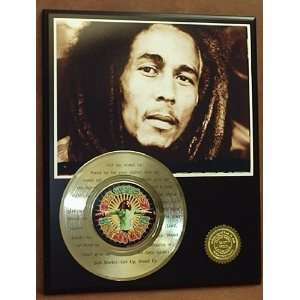 BOB MARLEY LASER ETCHED W/ LYRICS TO LET IT BE GOLD RECORD LIMITED