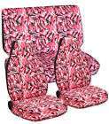 TRUCK SEAT COVERS 60/40 IN PINK CAMO FRONT AND REAR choose color