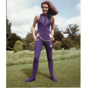 The Avengers Diana Rigg in Purple Jump Suit with Sexy Cut