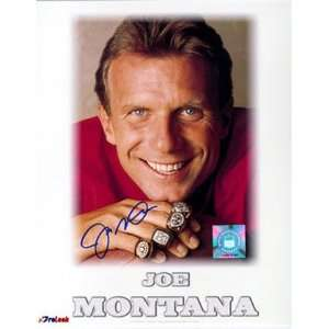 Joe Montana San Francisco 49ers Super Bowl Rings 16x20