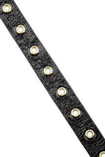 Alexander McQueen Skull embellished patent leather belt   60% Off Now