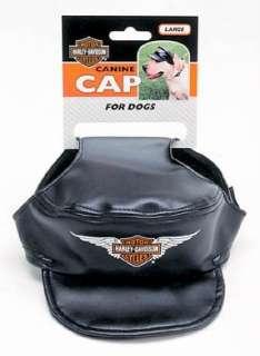 Harley Davidson Black Dog Canine Cap Hat Vinyl LG