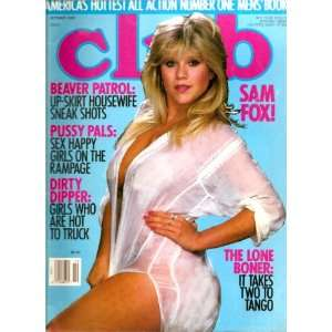 CLUB OCTOBER 1989 SAMANTHA FOX: CLUB MAGAZINE: Books