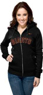 San Francisco Giants Womens Nike Black Classic Full Zip Hooded