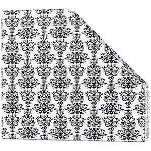 American Crafts 12 x 12 Damask Paper Storage Box   Black and White