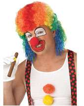 Adult Clown Mullet Wig Wholesale Price $13.90 In Stock CLOWN AFRO WIG
