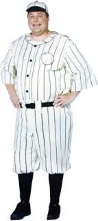 costumes in shopping cart old tyme baseball player plus