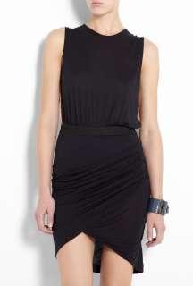 By Malene Birger  Black Casidez Sleeveless Jersey Twist Dress by By