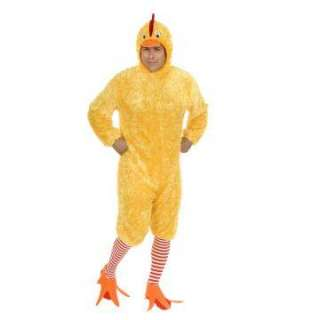 Chicken Plus Adult Costume   Includes jumpsuit, headpiece, stockings
