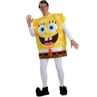 SpongeBob Squarepants Deluxe SpongeBob Adult Costume   Includes Tunic