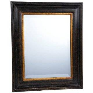 Mirror Distressed Black Frame Country Rustic Primitive