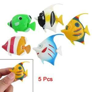Como Aquarium Decor 5 Pcs Colorful Plastic Tropical Fish