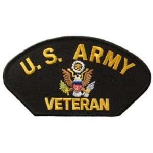 U.S. Army Veteran Hat Patch 2 3/4 x 5 1/4 Patio, Lawn