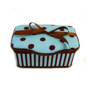 Blue Polka Dots Boutique baby wipes case Baby